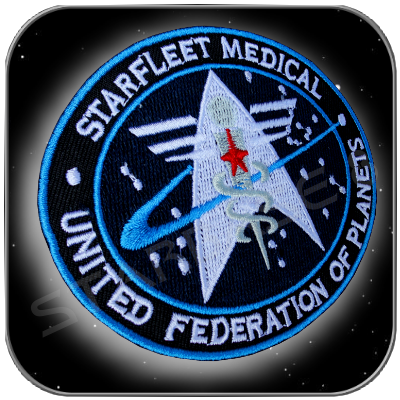 STARFLEET COMMAND MEDICAL UFP UNIFORM AUFNÄHER