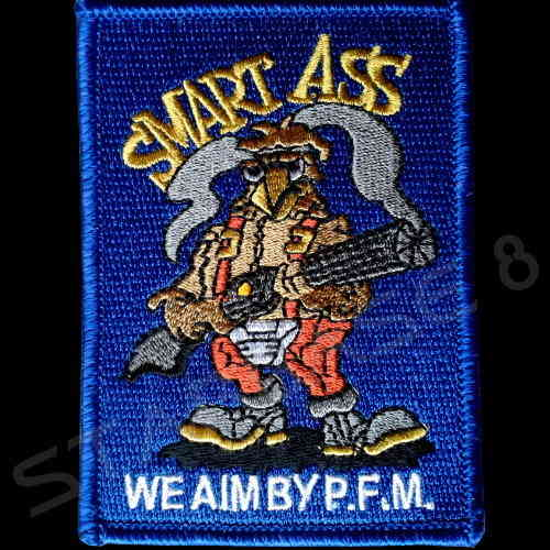 SMART AS - WE AIM BY P.F.M. COLONIAL MARINES AUFNÄHER