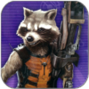 ROCKET RACCOON - HASBRO ACTION FIGUR - GUARDIANS OF THE GALAXY