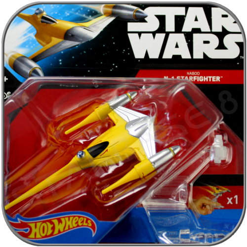 NABOO N-1 FIGHTER - STAR WARS HOT WHEELS DIE-CAST MODEL