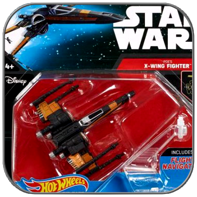 POE'S X-WING FIGHTER - STAR WARS HOT WHEELS DIE-CAST MODEL