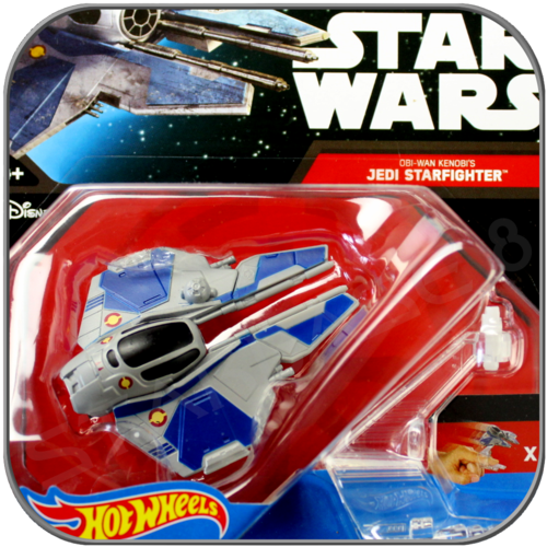 OBI WAN'S JEDI STARFIGHTER - STAR WARS HOT WHEELS DIE-CAST MODEL