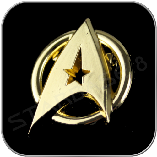 STARFLEET INSIGNIA BROOCH MOTION PICTURE