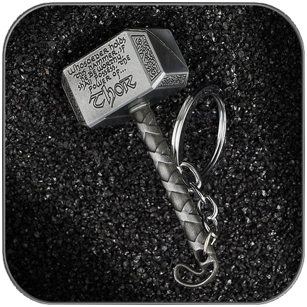 THOR'S HAMMER KEYCHAIN V2 - MARVEL CINEMATIC