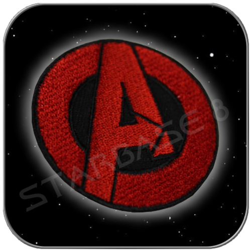 THE AVENGERS COSTUME PATCH (2 inch Red / Black)