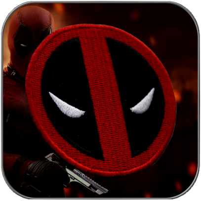 DEADPOOL SIGN COSTUME PATCH (2,5 inch Red / Black)