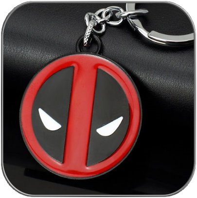 DEADPOOL LOGO SCHLÜSSELANHÄNGER - MARVEL CINEMATIC
