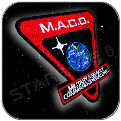 M.A.C.O. STARFLEET MARINES EARTH UNIFORM AUFNÄHER