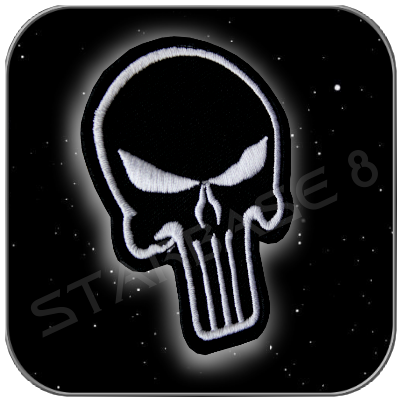THE PUNISHER BADGE UNIFORM PATCH (mit Klett)
