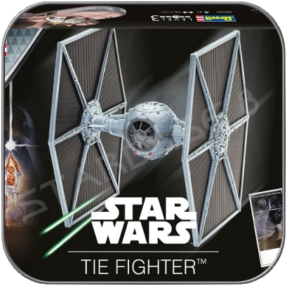 TIE FIGHTER - STAR WARS REVELL MODEL KIT  LIMITED EDITION with packaging damage