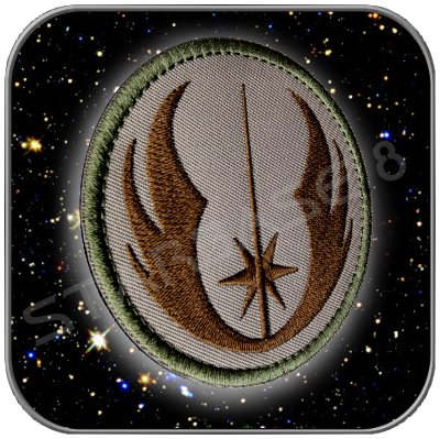 JEDI ORDER - STAR WARS HIGH QUALITY PATCH with KLETT (Brown)