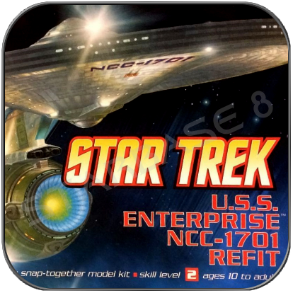 U.S.S. ENTERPRISE 1701 REFIT (1/1000 POLAR LIGHTS BAUSATZ)
