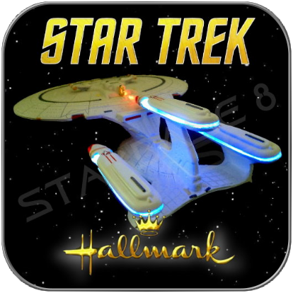 FUTURE ENTERPRISE 1701-D - HALLMARK STAR TREK RAUMSCHIFF MODELL