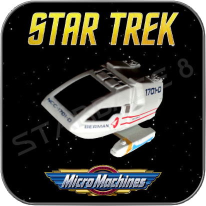 FEDERATION TYP 6 SHUTTLE 'BERMAN' - STAR TREK MICRO MACHINES