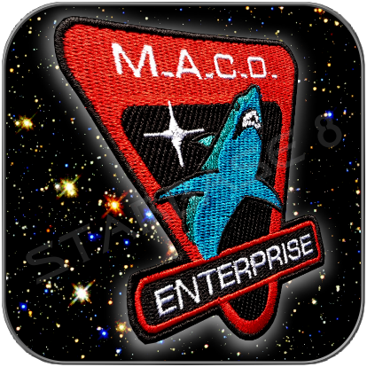 M.A.C.O. STARFLEET MARINES ENTERPRISE NX-01 UNIFORM AUFNÄHER