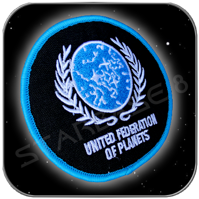 UNITED FEDERATION OF PLANETS UNIFORM AUFNÄHER PATCH