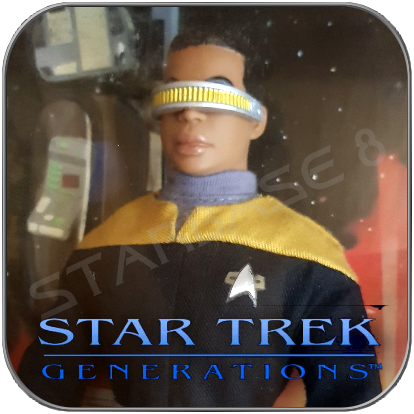 GEORDI LA FORGE - STAR TREK PLAYMATES ACTION COLLECTOR FIGUR