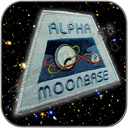 ALPHA MOONBASE SPACE 1999 UNIFORM AUFNÄHER / PATCH