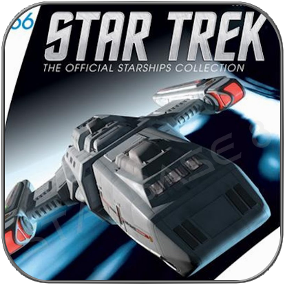 USS RAVEN NAR-32450 (EAGLEMOSS STAR TREK STARSHIP COLLECTION 66)