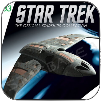 BAJORAN INTERCEPTOR (EAGLEMOSS STAR TREK STARSHIP COLLECTION 83)