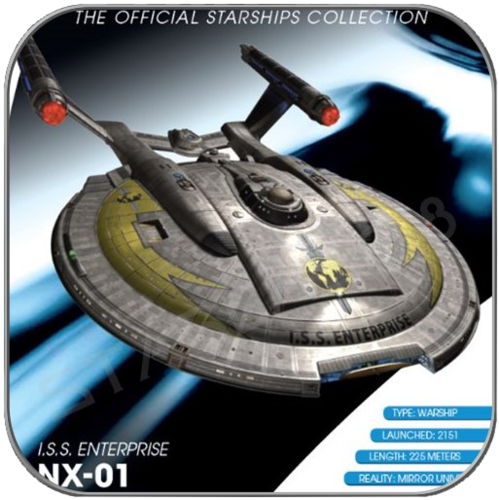 I.S.S. ENTERPRISE NX-01 (EAGLEMOSS STAR TREK STARSHIP COLLECTION M2)