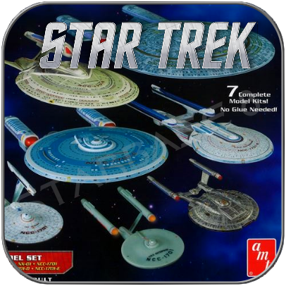 STAR TREK MODEL KITS from AMT, REVELL, POLAR LIGHTS