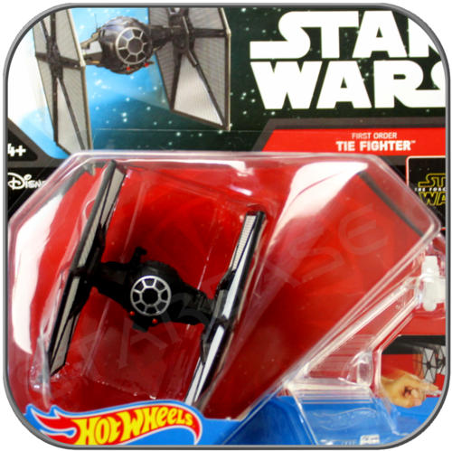 FIRST ORDER TIE FIGHTER - STAR WARS MATTEL HOT WHEELS