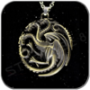 HALLSKETTE TARGARYEN 3D SYMBOL in ANTIK BRONZE - GAME OF THRONES