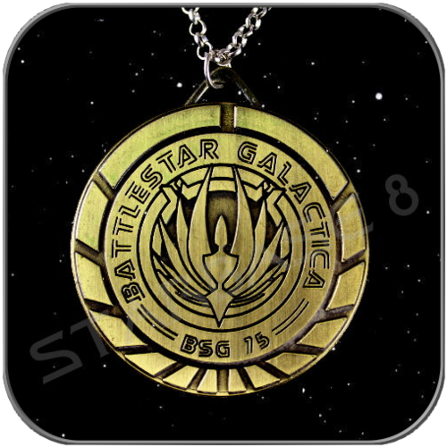 NECKLACE BSG 75 - BATTLESTAR GALACTICA BADGE