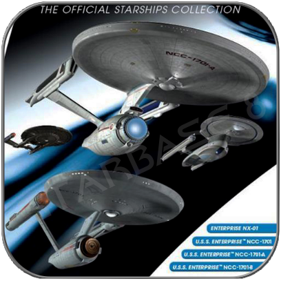 USS ENTERPRISE 4er SET (EAGLEMOSS STAR TREK STARSHIP COLLECTION UK)