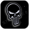THE PUNISHER EMBLEM AUFNÄHER mit KLETT
