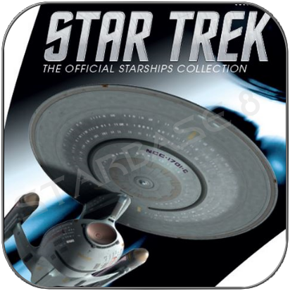 USS ENTERPRISE 1701-C - PROBERT CONCEPT (EAGLEMOSS BONUS ISSUE)