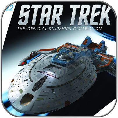 USS YEAGER (EAGLEMOSS STAR TREK STARSHIP COLLECTION UK #122)