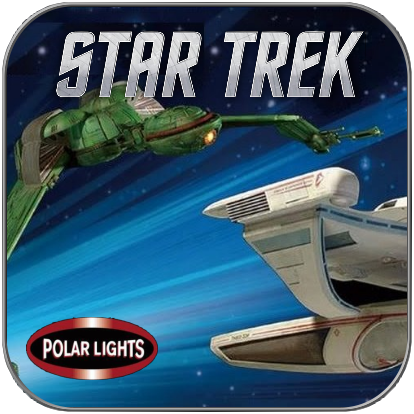 U.S.S. GRISSOM & KLINGON BIRD OF PREY (1/1000 POLAR LIGHTS BAUSATZ)