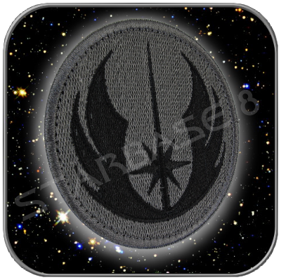 JEDI ORDER - STAR WARS HIGH QUALITY PATCH with KLETT (Black)