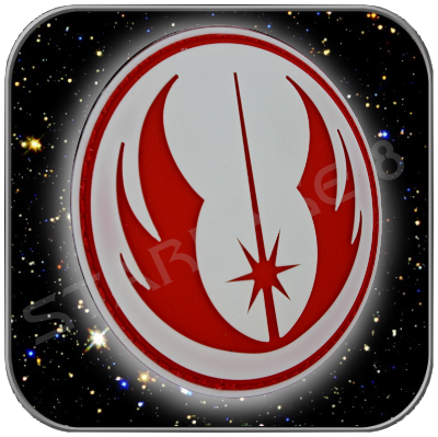 JEDI ORDER - STAR WARS HIGH QUALITY PVC BADGE with KLETT (Red)