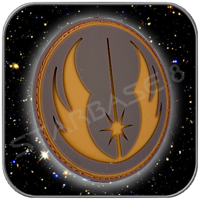 JEDI ORDER - STAR WARS HIGH QUALITY PVC BADGE with KLETT (Brown)