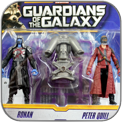 PETER QUILL (STARLORD) & RONAN - HASBRO ACTION FIGUREN SET - GUARDIANS OF THE GALAXY