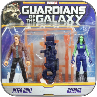 PETER QUILL & GAMORA - HASBRO ACTION FIGUREN SET - GUARDIANS OF THE GALAXY