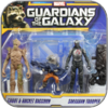 GROOT & ROCKET & SAKAARAN TROOPER - HASBRO ACTION FIGUREN SET - GUARDIANS OF THE GALAXY
