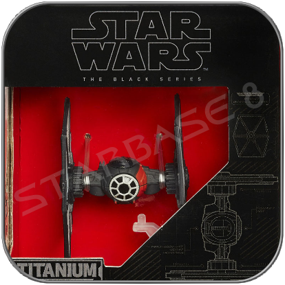 FIRST ORDER TIE FIGHTER SPECIAL FORCES - STAR WARS HASBRO TITANIUM BLACK SERIES