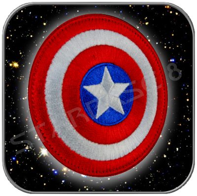 CAPTAIN AMERICA SHIELD PRIMIUM PATCH WITH 'KLETT'