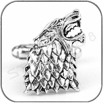 SCHATTENWOLF MANSCHETTENKNOPF (EINZELN) - GAME OF THRONES