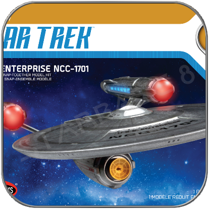 U.S.S. ENTERPRISE (Polar Lights 1/2500 Modell Bausatz inkl. Aztec Decals)
