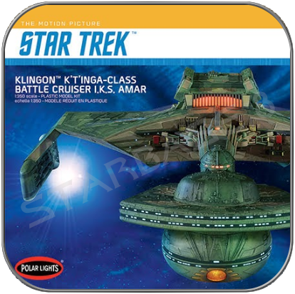 KRONOS - KLINGON K'T'INGA BATTLE CRUISER (1/350) (POLAR LIGHTS STAR TREK BAUSATZ)