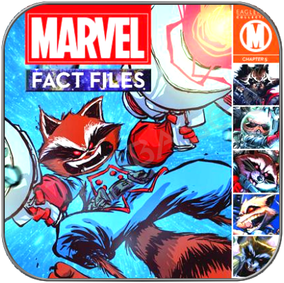 ROCKET RACCOON MARVEL FACT FILES SPECIAL COMIC & FIGUR - GUARDIANS OF THE GALAXY