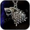 SHADOWWOLF ANHÄNGER mit HALLSKETTE - STARK GAME OF THRONES
