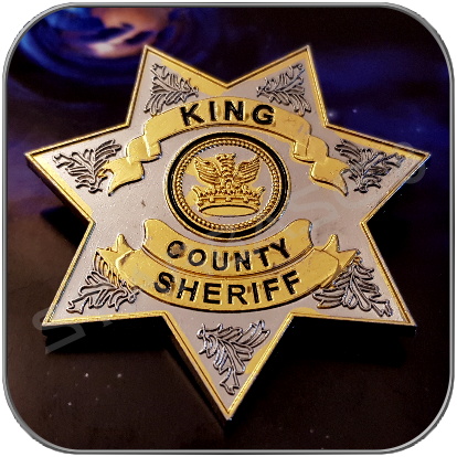 KING COUNTY SHERIFF - RICK's UNIFORM ANZEICHEN - THE WALKING DEAD