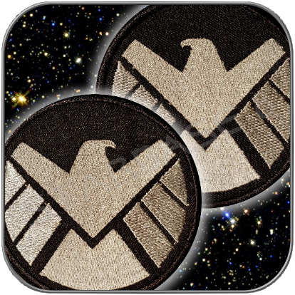 S.H.I.E.L.D. MODERN STYLE UNIFORM PATCH AUFNÄHER SET RECHTS/LINKS
