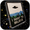I WANT TO BELIEVE AUFNÄHER